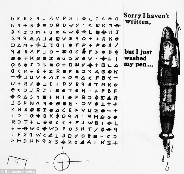 [Zdjęcie: List z 1969 roku od Zodiaca, wysłany do prasy i śledczych (fot. Archiwum Otto Bettmann)]
